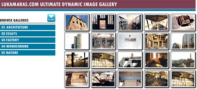 An image gallery section with twenty thumbnails.